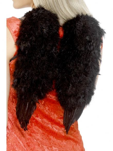 Saints & Sinners Angels Feather Wings In Black